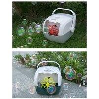 Máquina automática de burbujas para maleta, máquina eléctrica para hacer burbujas, juguetes al aire libre, escenario de fiesta