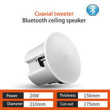 ceiling speakers 2pcs bluetooth speaker active home audio system background music