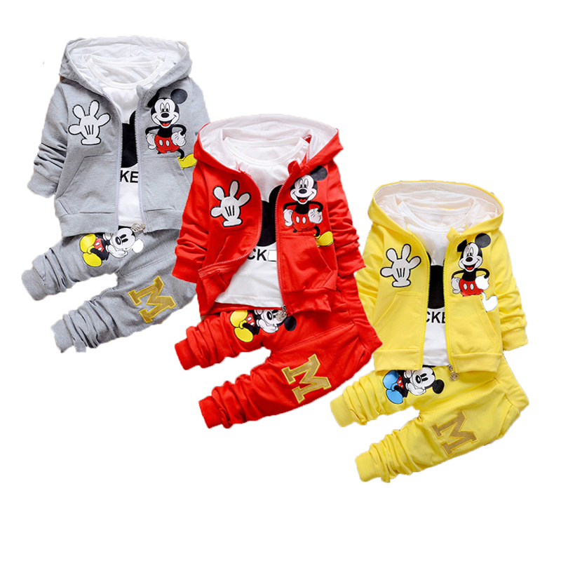Disney Baby Girls Clothing Mickey Fashion Sports Baby Boy Clothes Boutique Kids Clothing Store Infant Outfits Toddler Winter 1