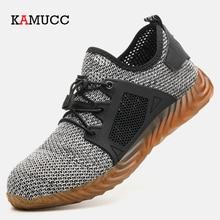 Ryder zapatos indestructibles con punta de acero para hombre y mujer, botas de seguridad transpirables, a prueba de perforaciones