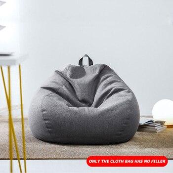 Bean Bag Sofa Chair No Filler Cloth Chair Recliner Seat Beanbag Cushion Large Beanbag Stuffed Storage For Kids Adults 70*80cm