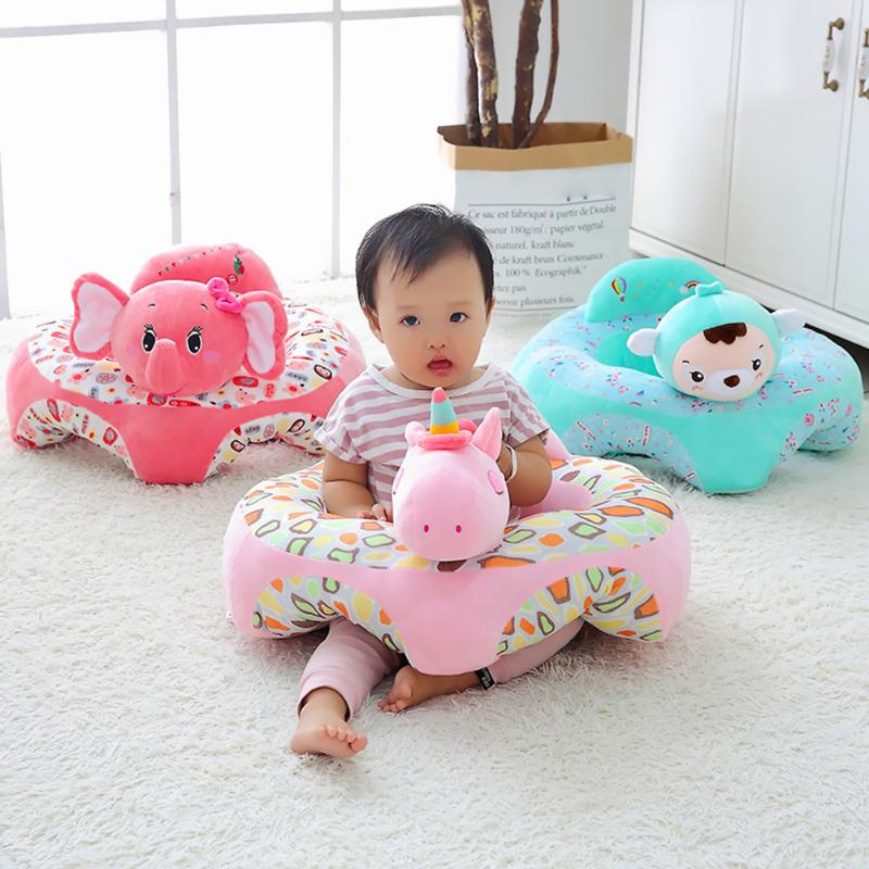 Cartoon Baby Sofa Learning Sitting Comfortable Toddle Support Seat Cover Chair Feeding Chair Cover Kids Sofa