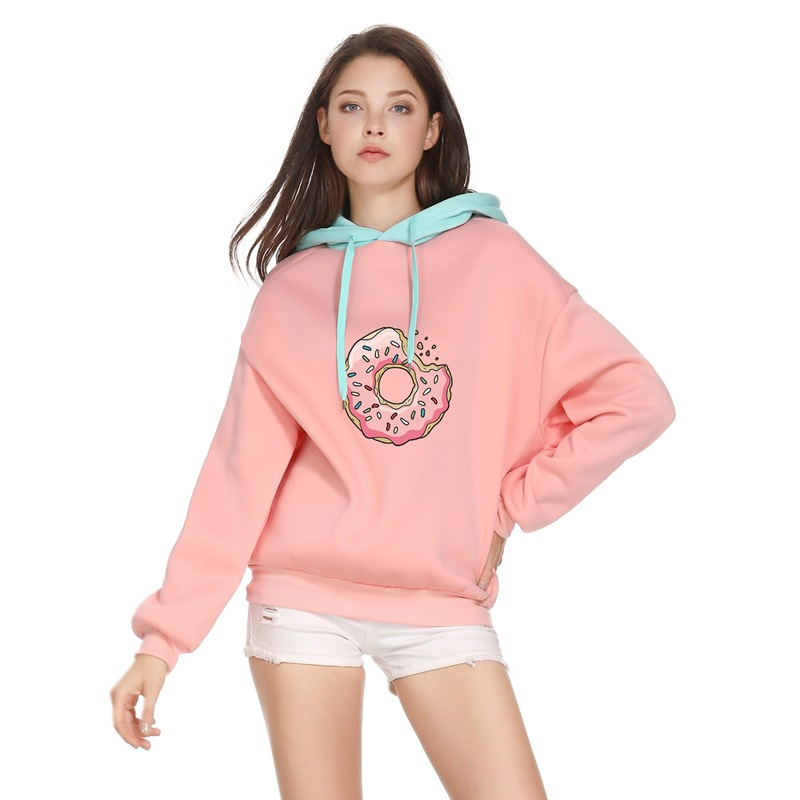 GOT7 Field Jiu Country Paragraph Yi En Celebrity Style Hoodie Coat Just Right Donuts Autumn And Winter Students Couples Hoodie