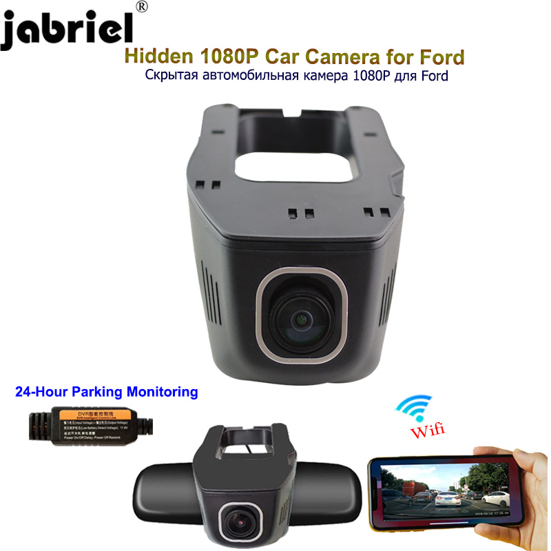 Jabriel <font><b>Car</b></font> Camera 1080P <font><b>car</b></font> <font><b>dvr</b></font> dash cam 24 hour video recorder rear Camera for <font><b>ford</b></font> focus 2 3 mk2 fiesta mk7 ranger mondeo mk4 image