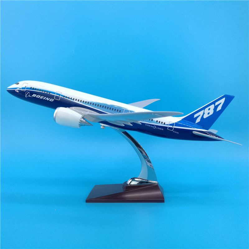 43cm B787-800 Prototype Airlines Simulation Static Resin Airplane Model Prototype Boeing 787 Aircraft Scale Model Gift Decorate image