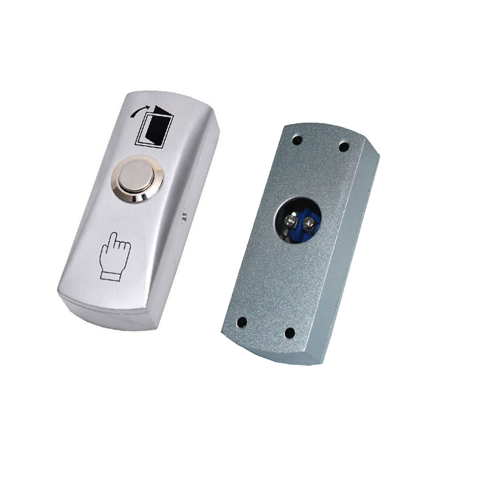 Exit Button For Access Control Aluminum Alloy With The Bottom Box Dimensions: 80Lx30Wx23H(mm) ,min:1pcs