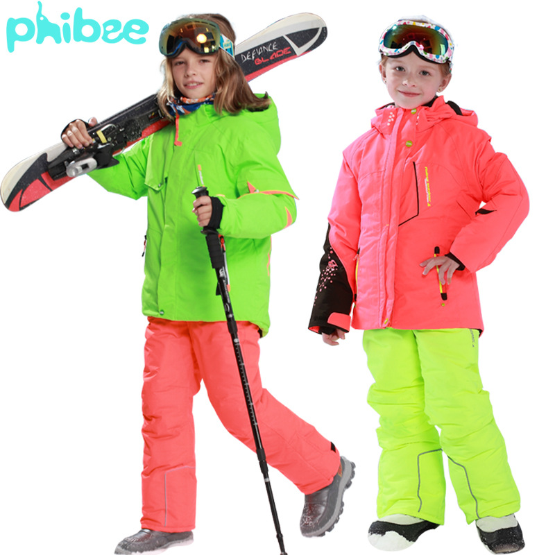 Phibee Phoebe Baby Elephant Genuine Product CHILDREN'S Ski Suit Thick Set Men And Women Child Export Russia