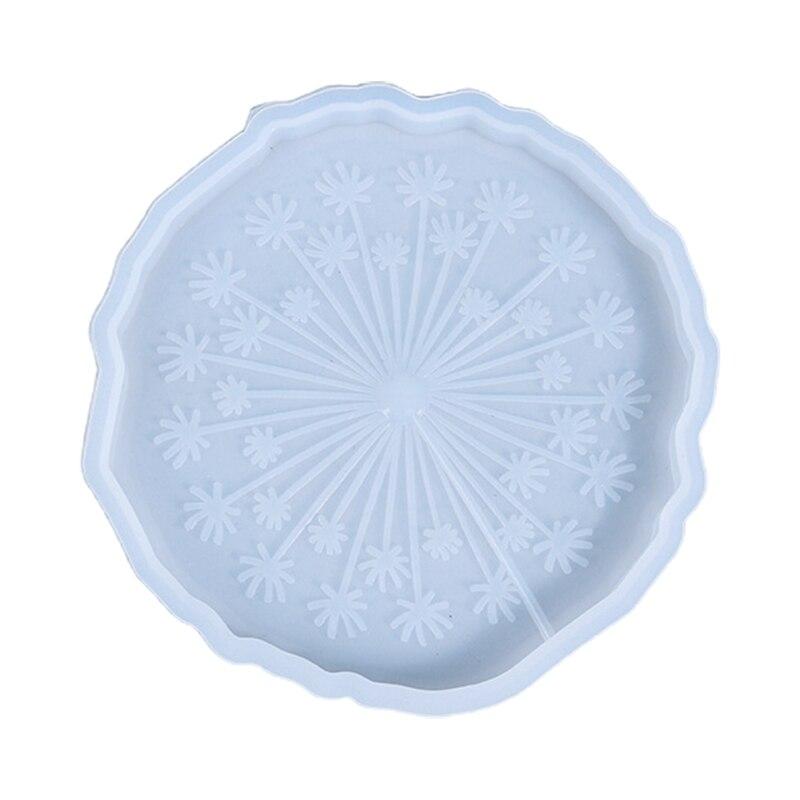 С украшением в виде кристаллов эпоксидная смола, форма лоток циновка чашки, принт в виде одуванчиков, Coaste силиконовая форма «сделай сам» рем...