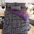 Комплект постельного белья с оленем  новогоднее домашнее пуховое одеяло  покрывало с синим сердечком  тигровый плоский лист  3/4 шт.  Комплект...