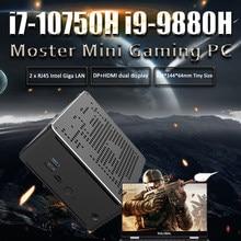 10th Gen Nuc i7 10750H i9 9880H 6 çekirdekli i5 Mini PC 2 Lan Windows 10 2 * DDR4 2 * M.2 NVME AC WiFi oyun masaüstü bilgisayar 4K DP HDMI