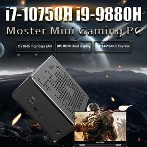 Gaming Mini PC Intel i9 8950HK 9880H 9850H Xeon E-2176M i9 Windows 10 Intel 2 Lans Desktop Computer PC System AC WiFi 4K HTPC HD