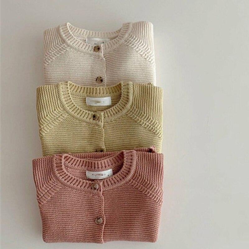 Autumn Kids Knitting Sweaters Newborn Baby Girls Boys Cardigan Baby Girl Sweater Knitting Jacket Coat Toddler Baby Girls Tops 2