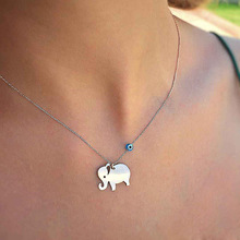 Fashion Vintage Cartoon Elephant Pendants Summer Girl Adult Woman Clavicular Chain Short Necklace Jewelry Holiday-YSF