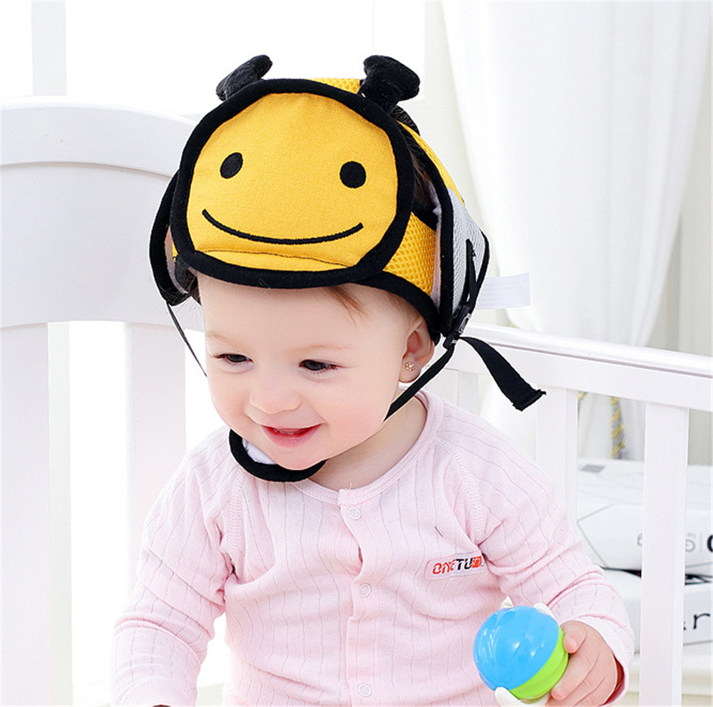 Child Protective Headgear Cap Baby Bumper Safety Helmet Baby Toddler Safe Walking Child Cap Anti-fall Soft Damping Cushioning
