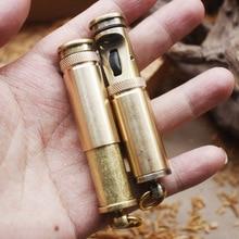 Retro Grinding Wheel Flint Free Fire Lighter Brass Kerosene Oil Pipe Lighter Cigarette Gasoline Windproof Gadgets For Men стоимость