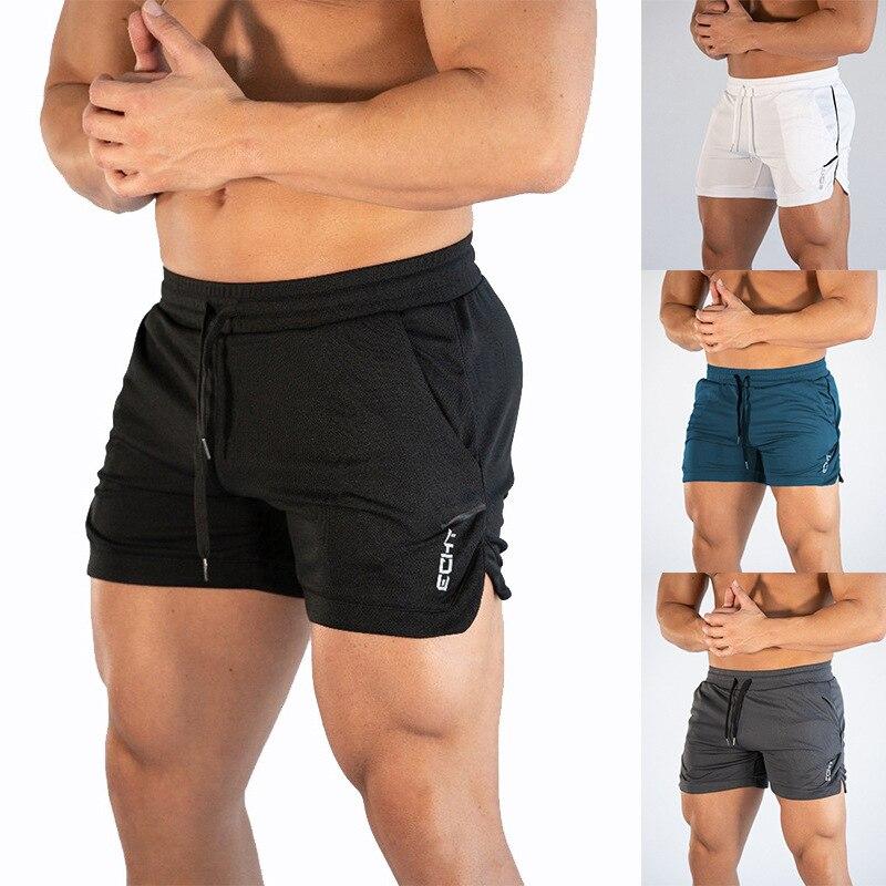 Men's Fitness Bodybuilding Shorts Men's Summer Gym Workout Men's Breathable Mesh Quick-drying Sports Pants Jogging Beach Shorts