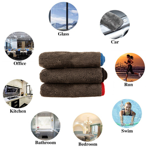 Image 5 - 40x40cm 40x60cm 60x90cm 1200GSM Thick Car Wash Microfiber Towel Plush Cleaning Drying Cloth Car Care Cloth Detailing Polishing