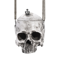 Zdzdy gothic bag punk skull bag grey goth purse acrylic resin handbag women bag CG1811