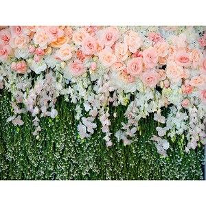 Image 3 - Allenjoy 결혼식 배경 봄 꽃 잔디 잎 자연 베이비 샤워 신생아 배경 파티 Photocall Photobooth 비닐