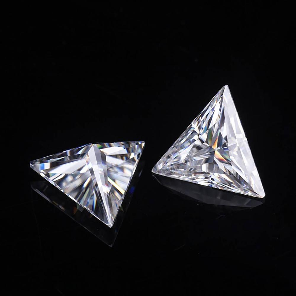 Szjinao Real 100% Loose Dimaond Moissanite Stone 1ct D Color VVS1 6.5MM Gemstone Trilliant Cut For Jewelry With GRA Certificate