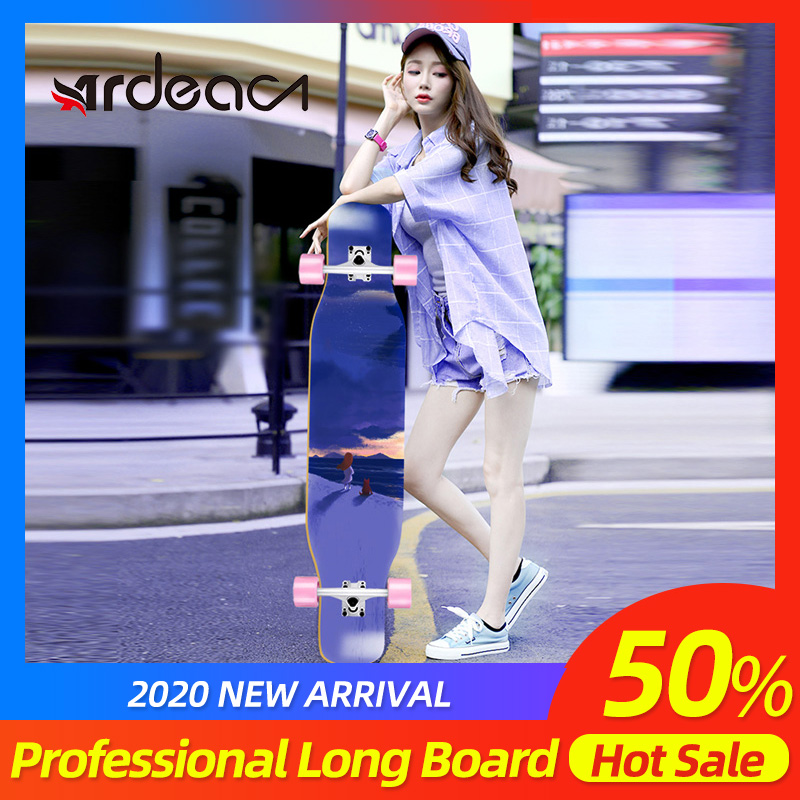 MS414 Longboard ABEC-9 Bearing Fashional Ular Girl Street Dancing Long Board 46in Deck  70*51mm Wheel