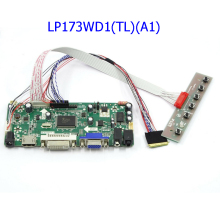 Latumab New kit for LP173WD1(TL)(A1) HDMI + DVI + VGA LCD LED LVDS Controller Board Driver  lcd controller t vst59 03 lcd led controller driver board for b141ew04 v4 qd14tl02 b154ew02 tv hdmi vga cvbs usb lvds reuse laptop 1280x800