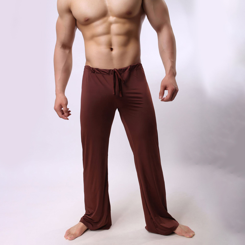 Home-Wear Pajamas Trousers Straight Pants Men Loose Casual Fashion for Sexy Long Breathable