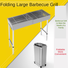 Stainless Steel BBQ Folding Portable Barbecue Grill Camping BBQ Grill Kebab Grill Large Barbecue Grill Family Gathering commercial electric grill barbecue kitchen bbq grill counter electrical stainless steel griddle churrasqueira eletrica eg 818b