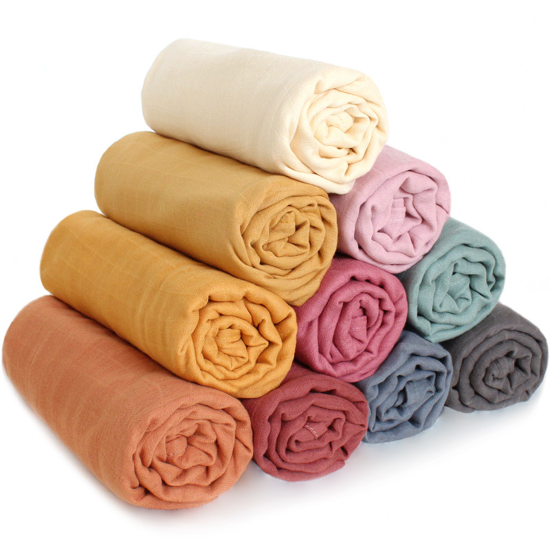 Swaddle Baby 120 Baby Blankets Newborn Cotton Gauze Blanket Solid Newborn Organic Cotton Bamboo Baby Blanket Muslin