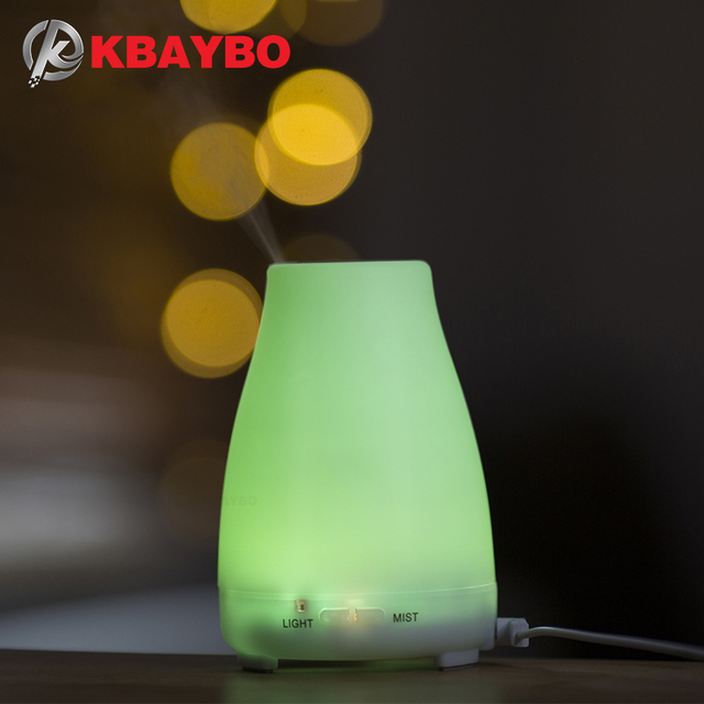 KBAYBO aroma essential oil diffuser aromatherapy air humidfier cold cool mist maker with remote control LED night light for home