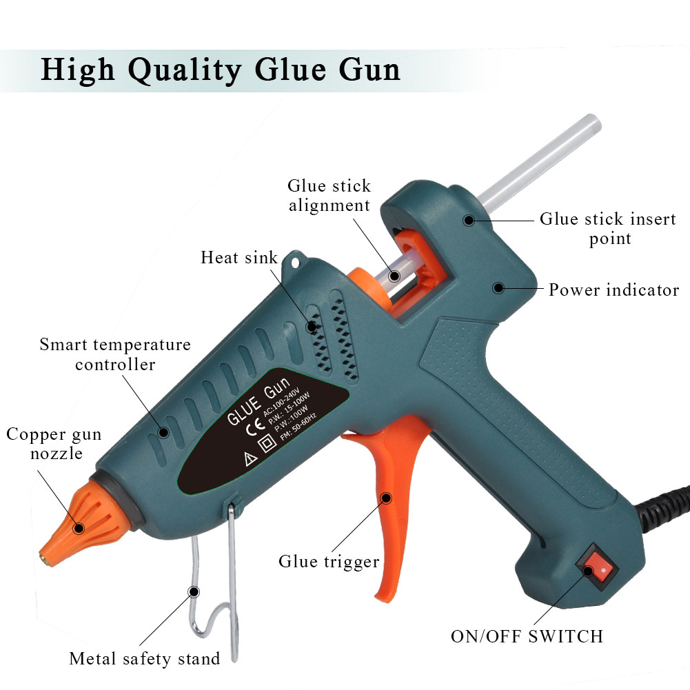 Glue Gun Ejoyous 100 Watt Hot Melt Glue Gun for DIY Craft S Pistola De Silicona