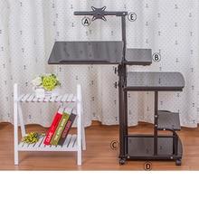Складной компьютерный стол регулируемый портативный стол для ноутбука вращающийся столик для ноутбука может быть поднят стоячий стол
