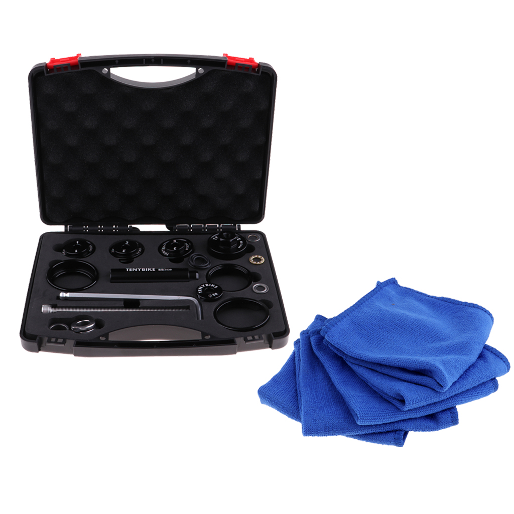 Bottom Bracket Tool Remove Install Press-Fit Kit /& Clean Towel for Bicycles