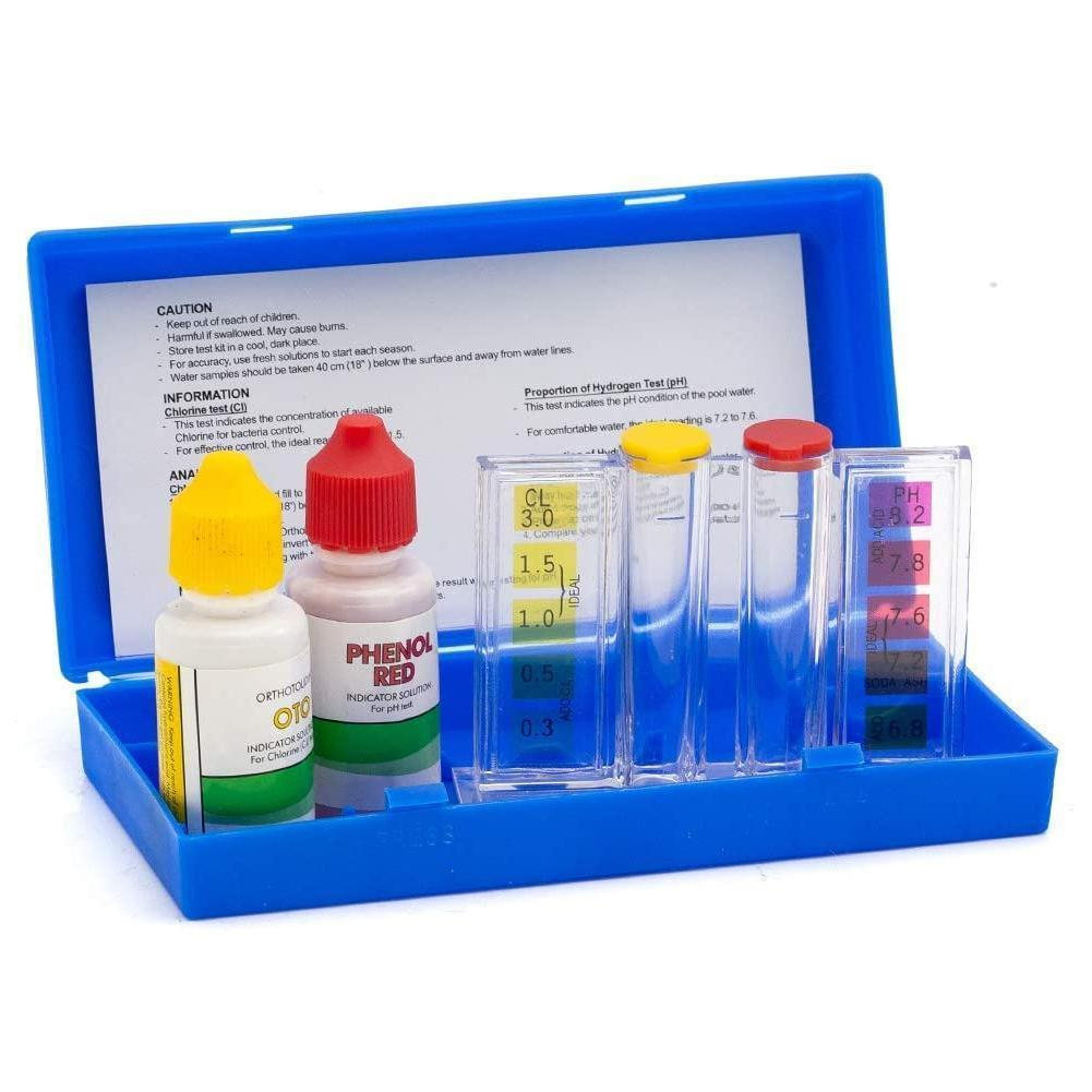 1set Swimming Pool Special Test Kit Accessories PH Inspection Test Box Water Quality Liquid Water Component Chlorine Q3A5