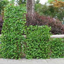 Folha artificial privacidade cerca corrimão decorativo expansível parede paisagismo jardim cerca tela quintal decoração do jardim