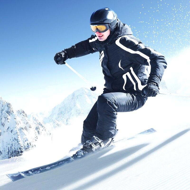 2019 hiver hommes Ski costume imperméable coupe-vent épaissir chaud en plein air neige vêtements hommes Ski Set veste Ski et snowboard costumes