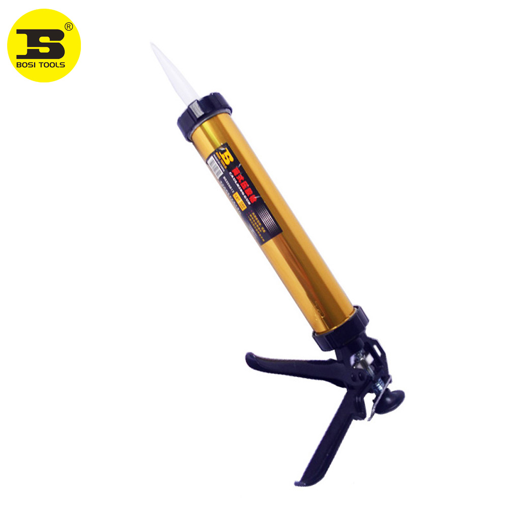 """BOSI Pistola de cartucho de calafateo manual de servicio pesado de 12 """"para paquetes de salchichas y cartuchos Tubo de aluminio"""