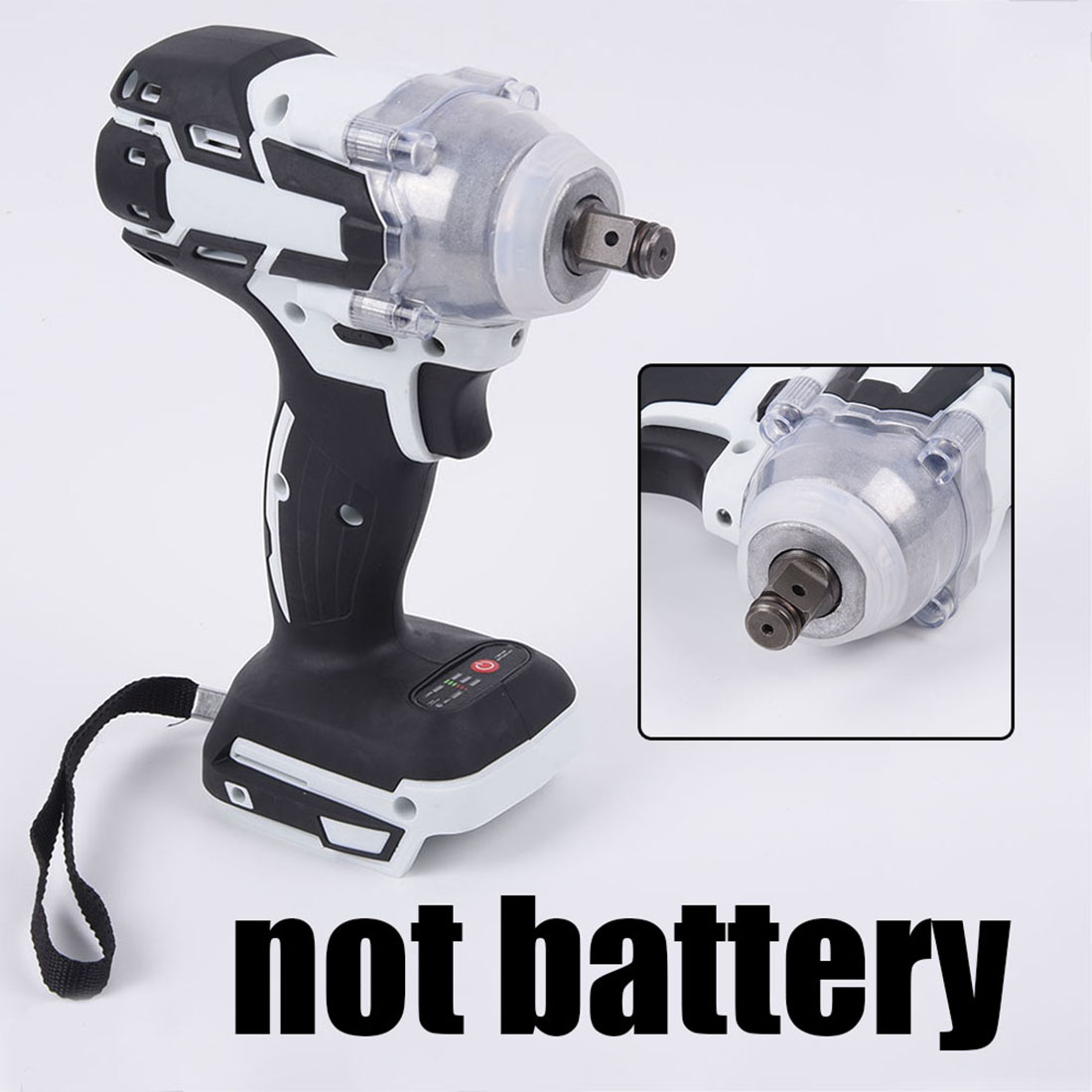 1280W Brushless Electric Hammer Cordless Drill 19800mAH 240-520NM Adjustable 0~3600 RPM 240-520NM Torque No Battery For Home DIY