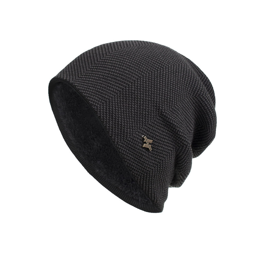 Solid Color Unisex Beanie Hat Men Women Winter Trendy Warm Oversized Chunky Baggy Stretchy Slouchy Skully Hat Casual Outwear Hat