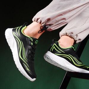 Image 3 - Casual Scarpe Uomo Sneakers In Pelle Lace up Leggero A Piedi Calzature Mens Tenis Masculino Impermeabile scarpe Da Ginnastica Più Il Formato 14