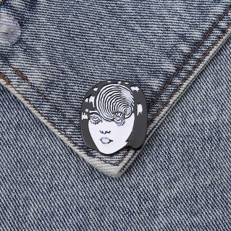 Aneh Multi Mata Kerah Punk Pin Mengerikan Wajah Gothic Desain Bros Lencana Ransel Pin Unik Perhiasan Hadiah untuk Teman