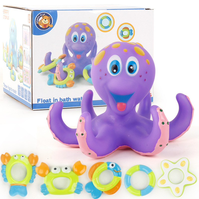 Eight Claw Fish Circle Small Octopus Children Take A Shower Toys Alpinia Oxyphylla Baby Take A Shower Swimming Toys Eight Claw