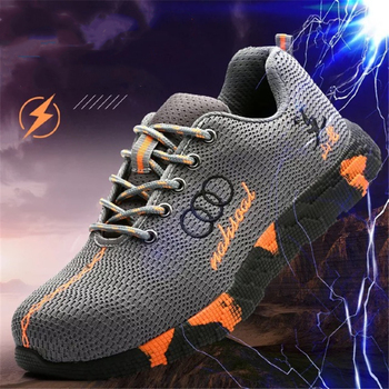 Steel Toe Safety Shoes Men Women Breathable Mesh Industrial & Construction Puncture Proof Work Boots Shoes Protective Footwear 7