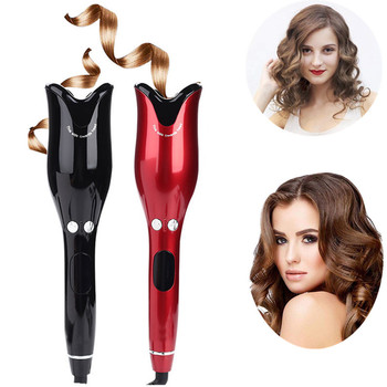In Stock Auto Hair Curler Styler Tools Beach Waves Hair Waving Iron Rotating Ceramic Spin N Curl Air Magic Spiral Curling Irons image