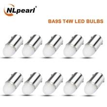 Nlpearl 12v lâmpada de sinal ba9s t4w lâmpadas led 3030smd ba9s led canbus carro placa de licença leitura cúpula lâmpadas marcador luzes laterais branco