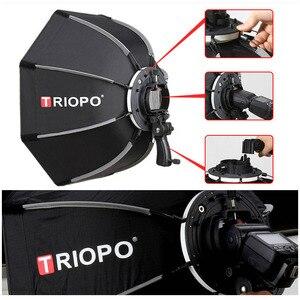Image 3 - Triopo 90 センチメートルスピードライトソフトボックスポータブル w/ハニカムグリッド屋外オクタゴン傘フラッシュキヤノンニコンソニー godox