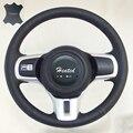 Чехол на руль из натуральной кожи наппа для Mitsubishi lancer x lancer sports lancer 10 Evo X  оплетка на руль