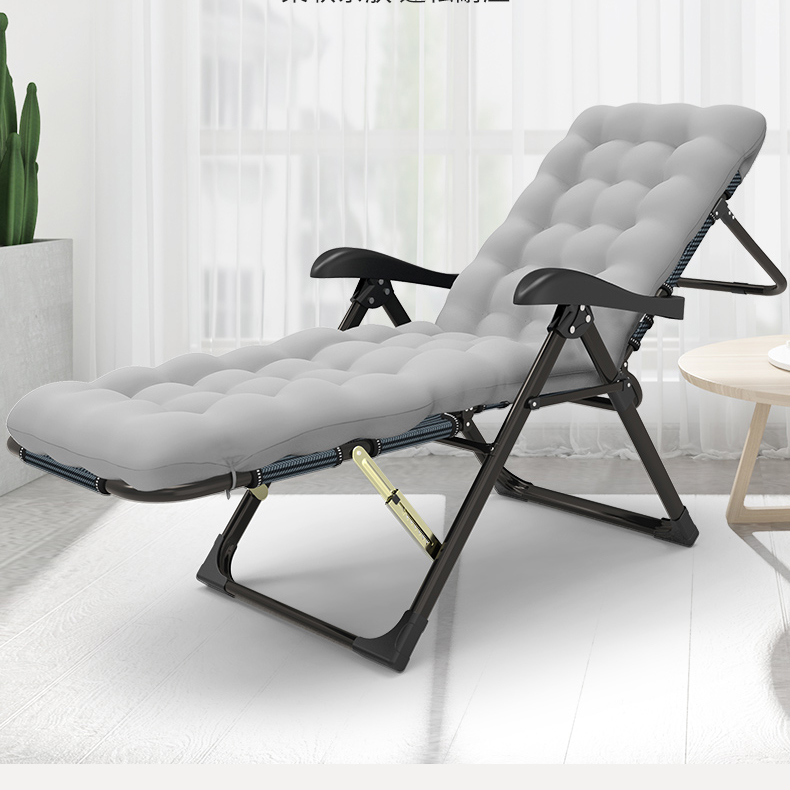 Both Sides Recliner Folding Lunch Break Chair Can Lie Can Take A Nap Home Balcony Leisure Back Chai