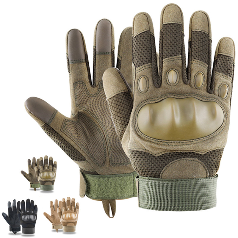 Men Army Military Tactical Gloves Carbon Fiber Airsoft Paintball Hunting Shooting Outdoor Gear Hiking Full Finger Gloves for Men