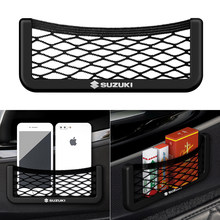 Car Net Bag Phone Holder Storage Pocket Organizer Car Mesh Net Holder Pocket For Suzuki Jimny grand vitara sx4 swift Car Styling